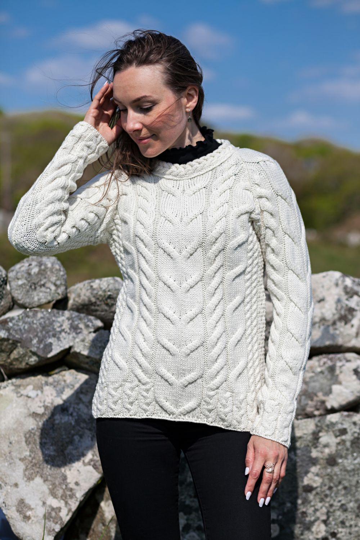 Supersoft Crew Neck Sweater - Aran Islands Knitwear