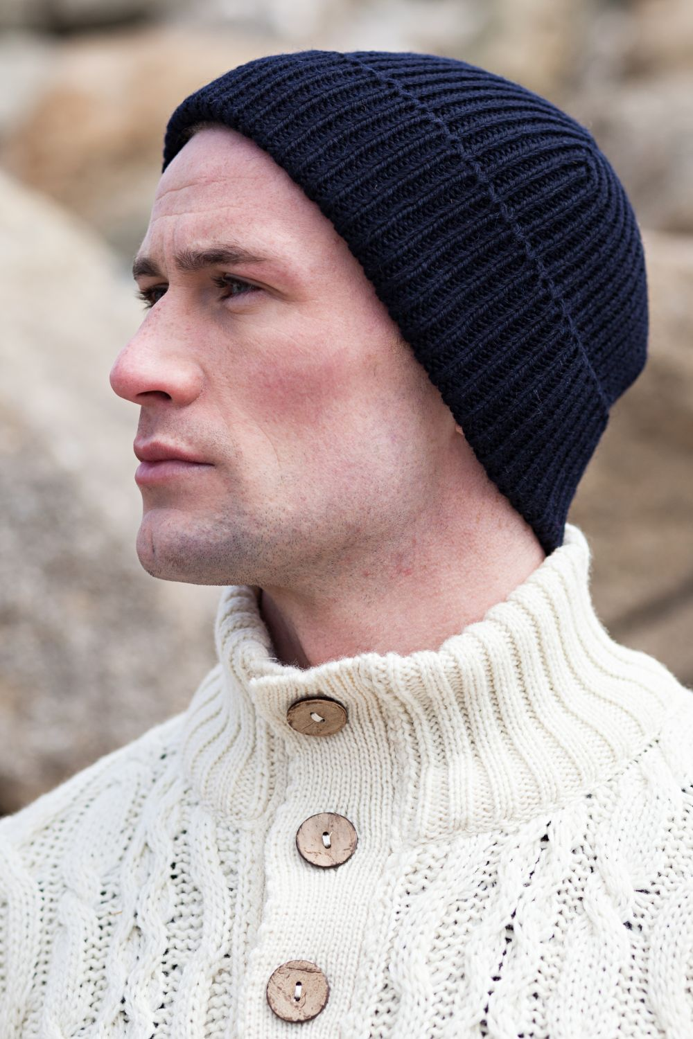 Fisherman Beanie - Aran Islands Knitwear d5c8bf5c1f32