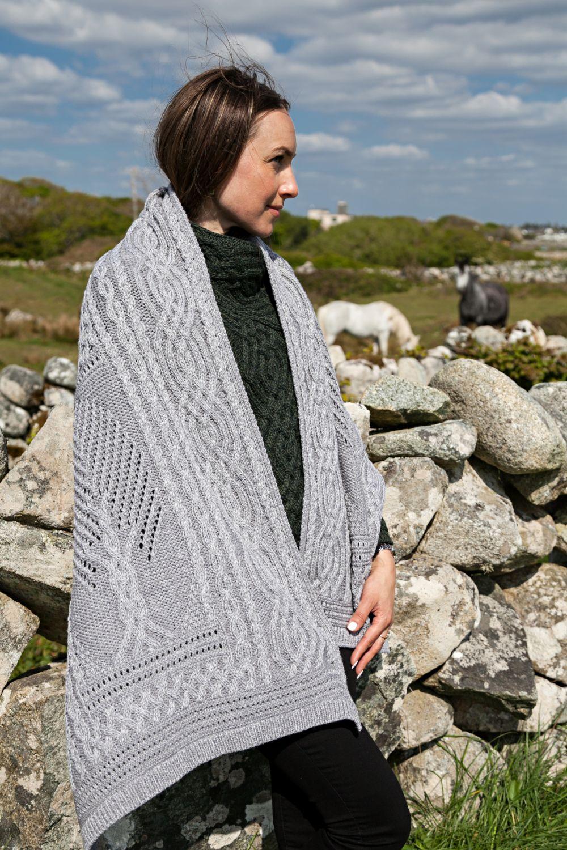 Tree Of Life Shawl Aran Islands Knitwear