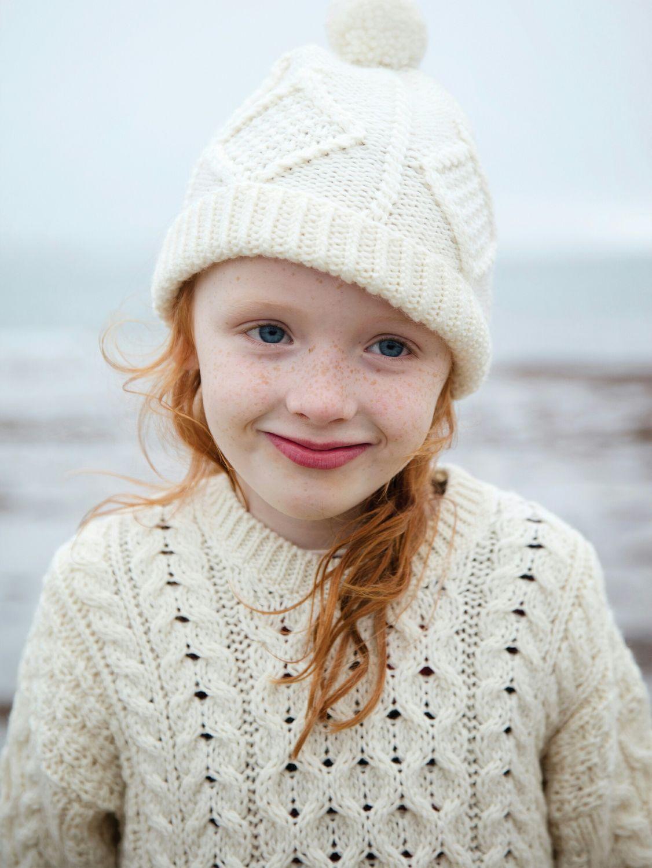 212329f318b Hand Knit Aran Hat with Woollen Pom Pom - Aran Islands Knitwear