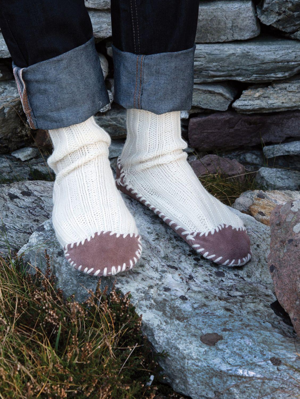 fdb0f5cbcfed3 Hand Knit Slipper Socks